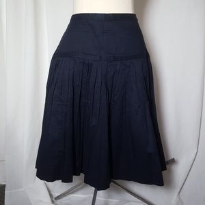 J Crew Women's Skirt Navy 6 Cotton